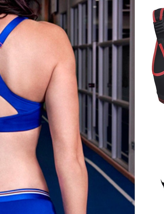 Sports bras for cycling come in a range of different back designs