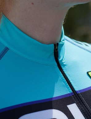 The PRR Barbados jersey features a full length zip