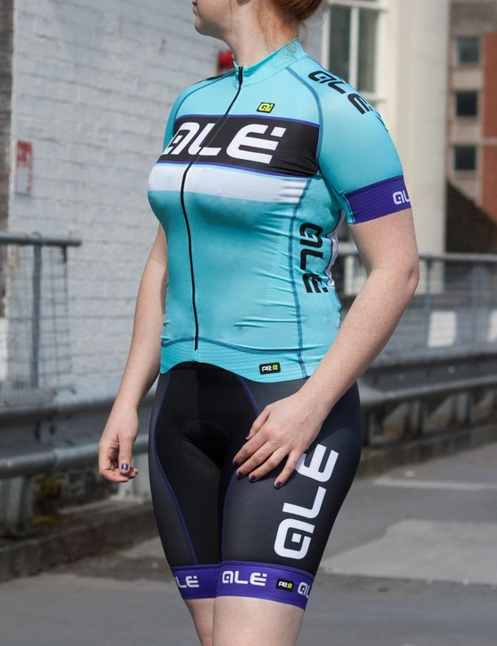 The Alé PRR Barbados women's jersey and bib shorts are designed with aerodynamic performance in mind
