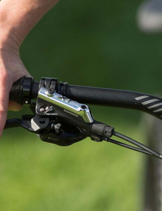 Shimano XT brakes are easy to adjust and well suited to small hands