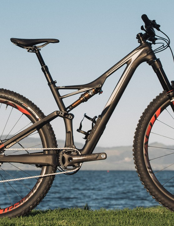 If it is ultra-high performance you're after, consider Stumpjumper S-Works 650b instead and beg the bike shop to swap the rear shock. The crank length in the small Stumpy 650b was 170mm too, the same as with the small Rhyme. The other difference are the seat, the wider bars and the cost