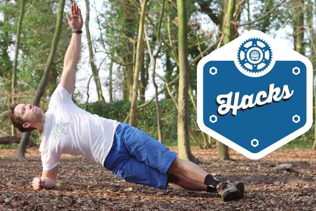 The side plank is a great body weight exercise for helping to build cornering strength