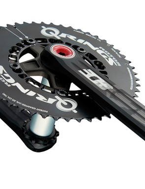 The Rotor 3D+ is a distinctively solid, universal fit crank with optional asymmetric rings