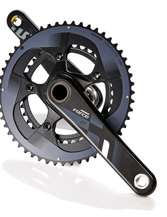 SRAM's Force 22 cranks look great and shift well; they're not the stiffest out there though