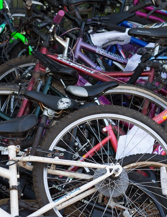 Everything from old MTBs and kids' bikes to choppers and rusty racers are here