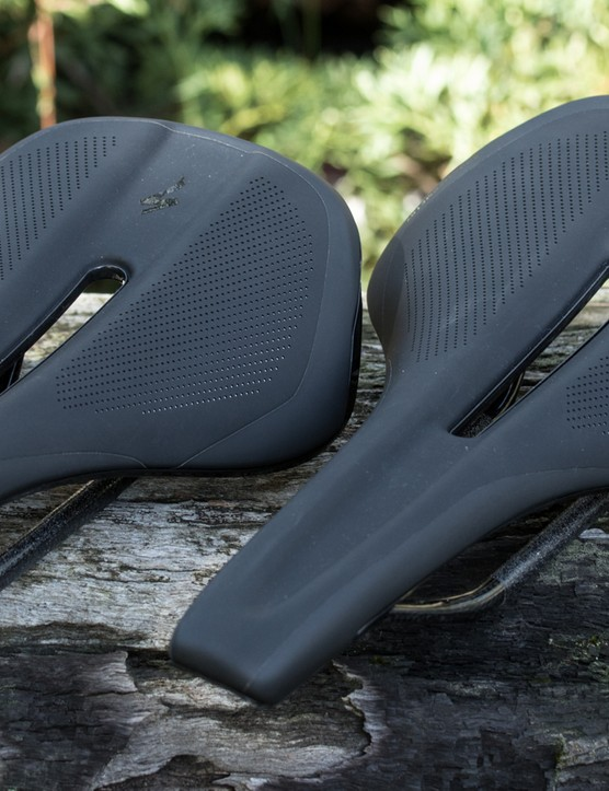 Specialized Phenom Pro saddles are available in either a 143mm or 155m width