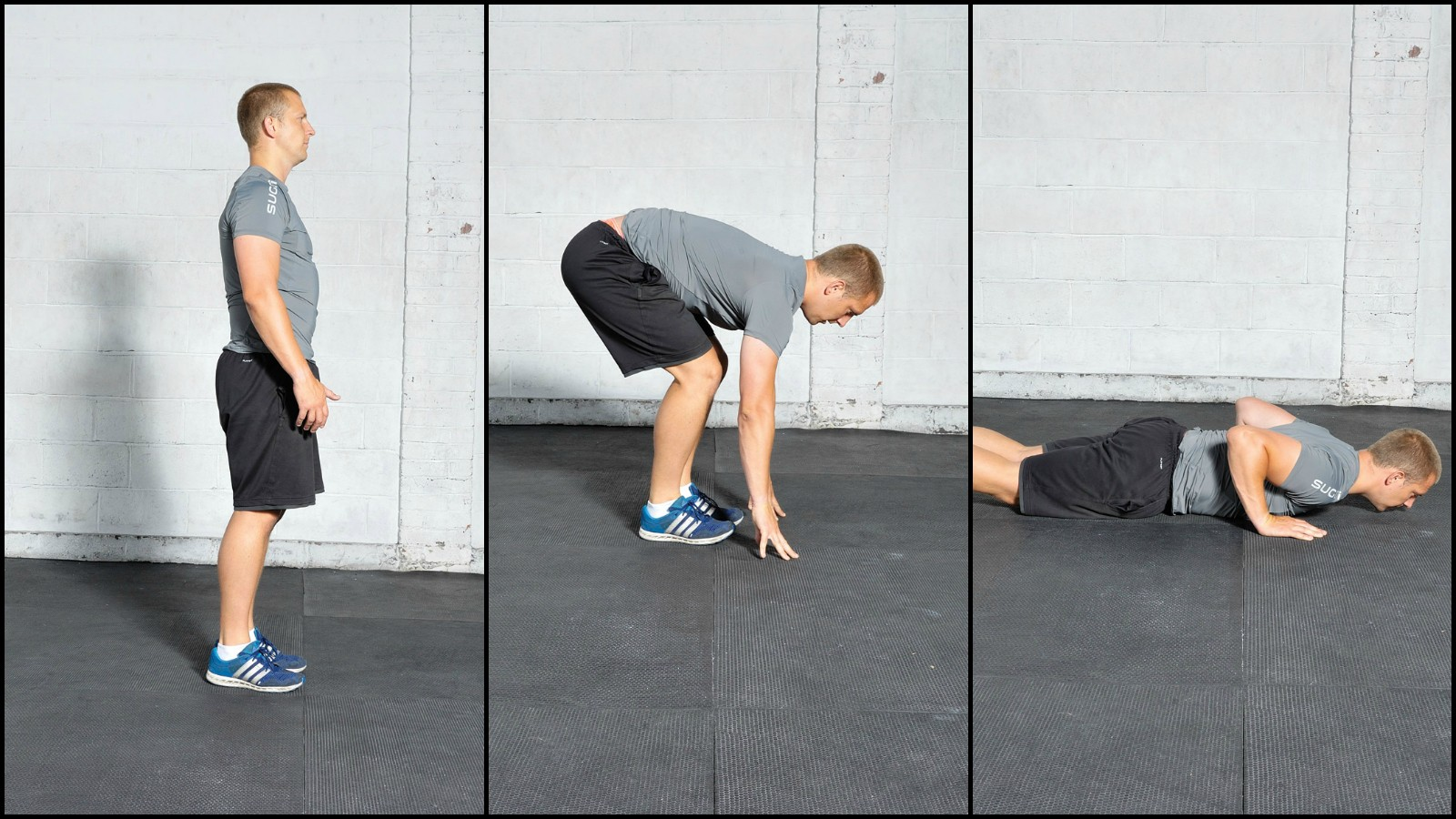 Burpees are the perfect all-round body move – start by dropping to the floor...