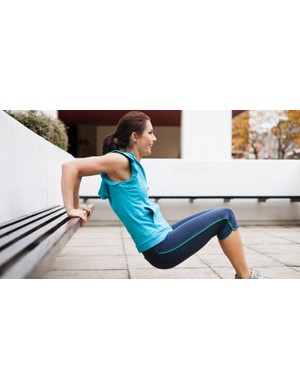 Dips will help you add strength to your arms