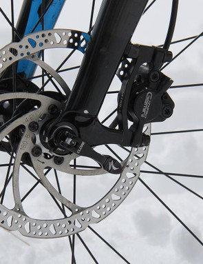 The stock Tektro brakes can't match the performance of SRAM or Shimano's offerings, but they get the job done