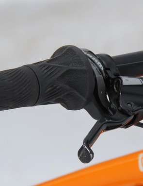 Grip Shifters were a thoughtful addition for winter riding