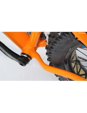 The Fatboy has plenty of clearance for snow or mud between the chainstays