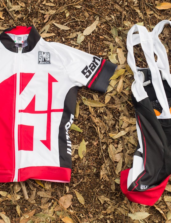 Skinsuit without the commitment - the Santini Interactive kit zips together into a onesie