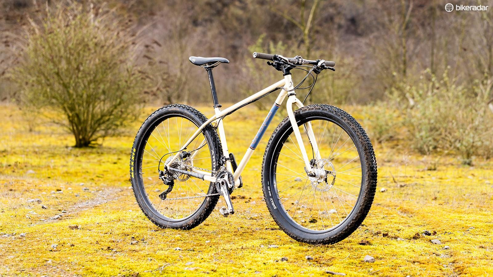 Singular's Swift can also accommodate a 100mm suspension fork, taking a degree off the head angle –but you'll need to find one with a straight 1 1/8in steerer