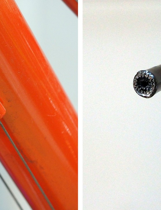 Cable housing is a notoriously sneaky source of creaking. Those little wires inside derailleur housing can make all sorts of racket if they're paired with metal ferrules, and the ferrules themselves can creak in the frame when the handlbars are turned back and forth. Plastic caps can help