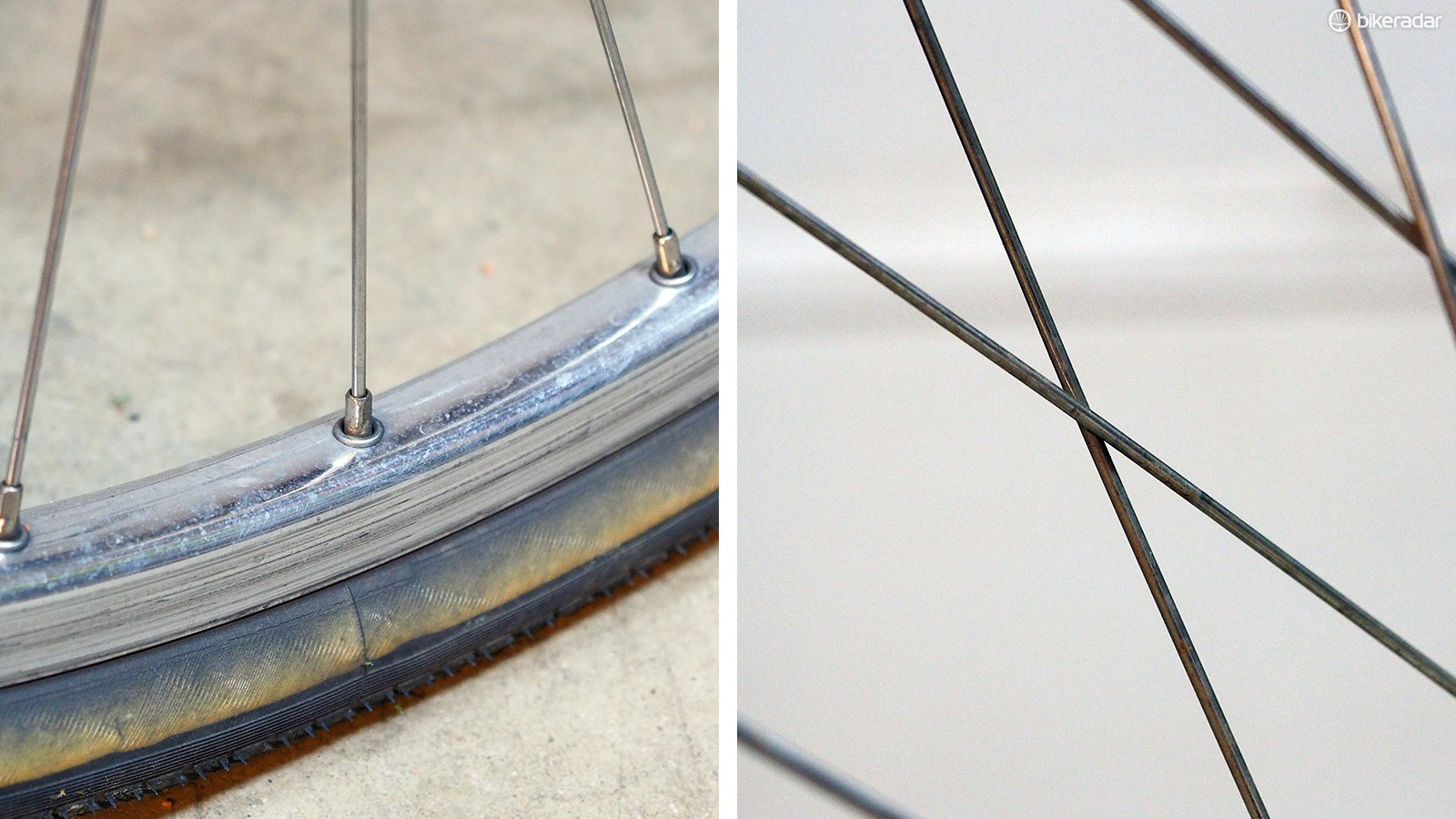 Creaky wheels are often indicative of low spoke tension. Retensioning the wheel is the best solution but a drop of oil at each spoke crossing, rim eyelet, and spoke nipple can help, too