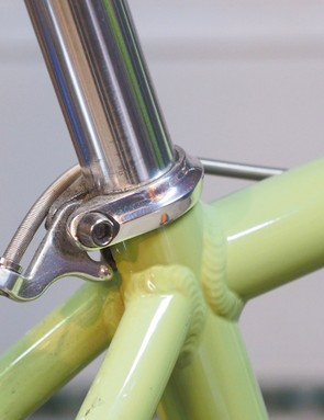 Seatposts can creak in the frame. For metal seatposts in metal frames, pull the seatpost out, clean and regrease, and then reinstall (use friction paste if either part is carbon). It's a good idea to remove and grease the seatpost clamp bolt while you're at it, too