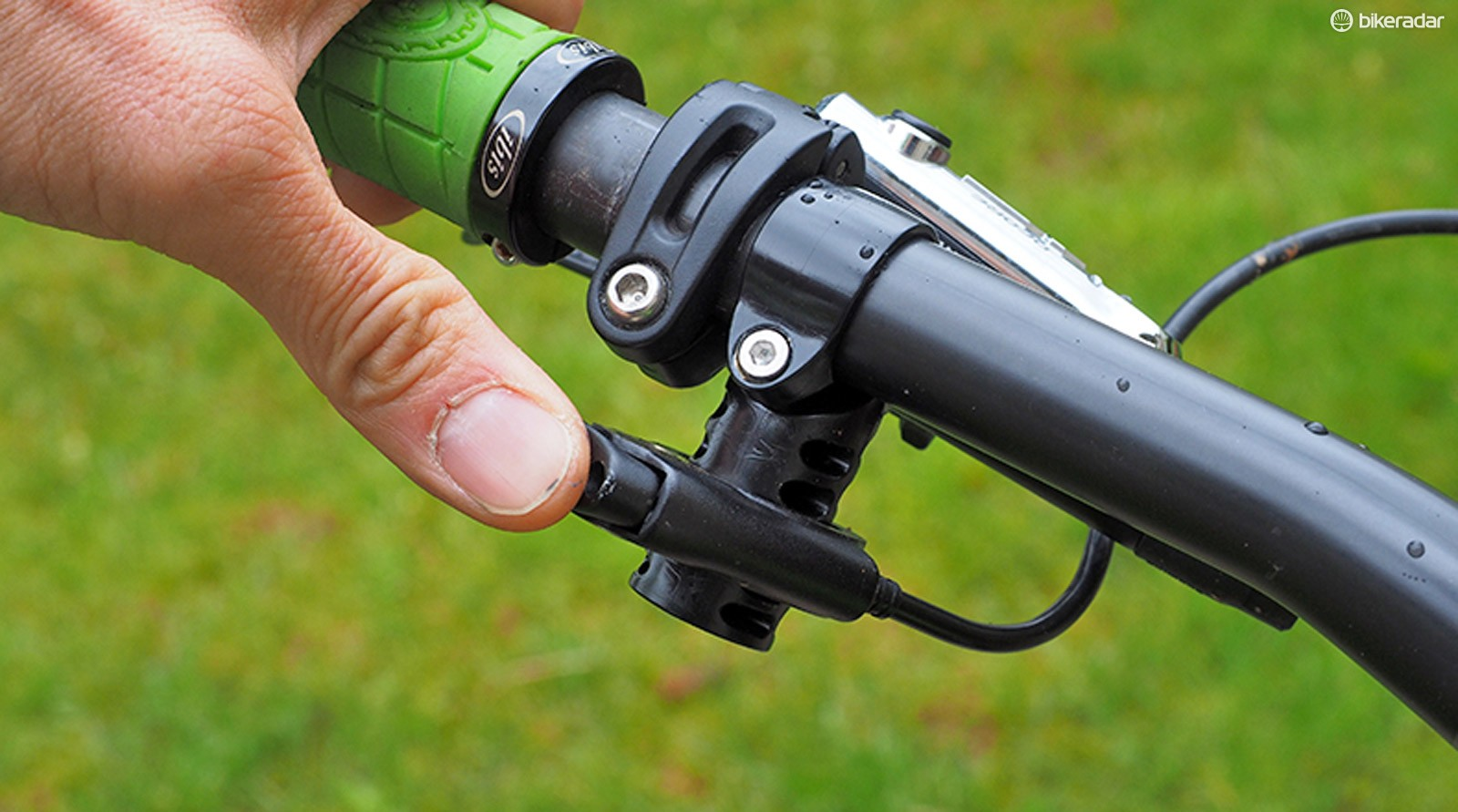 The Lindarets ReMount repositions your current dropper seatpost remote lever for much improved fit and ergonomics