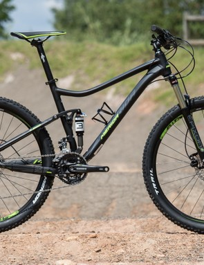 The 2015 Merida One-Twenty 7.500 is a value-orientated full suspension trail bike
