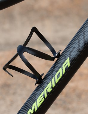 Merida includes a basic alloy bottle cage with the bike. It's a nice addition, however, we would have preferred a more secure hold for steep and rough terrain