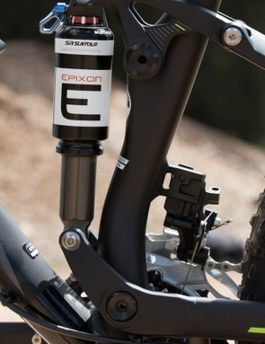 Merida's 'Float Link' suspension design has a floating lower link instead of a more traditional fixed shock mount
