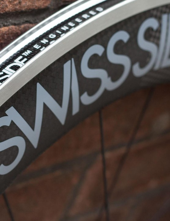 Swiss Side's Hadron wheels use alloy rims with carbon aero fairings