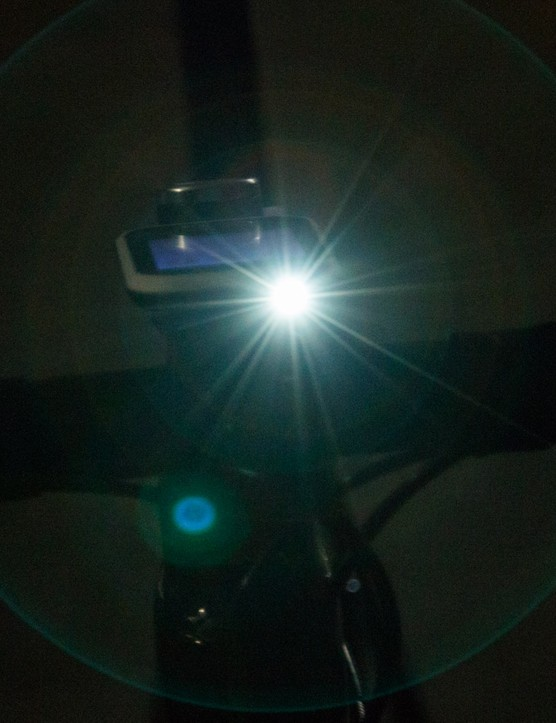 The safety light is a cool feature, but our photo exaggerates its power