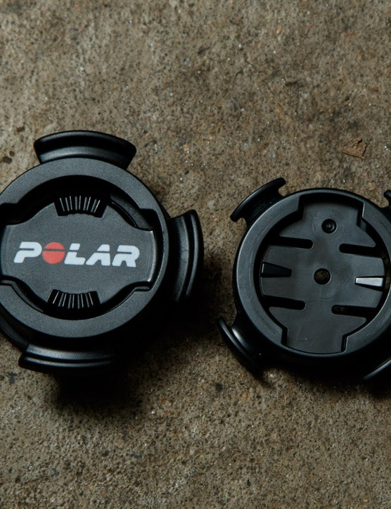 Despite using a similar quarter turn mounting system, Polar has not made the V650 compatible with Garmin mounts
