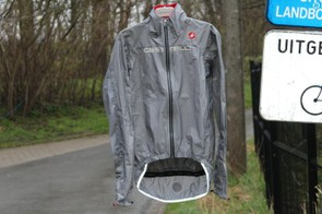 The Castelli Tempesta Race Jacket has an extended tail, which is welcome on the type of days you wear it