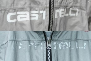 The reflective chest logo, on the other hand, is not permanent. After two months of use and washing, the logo went from the above to the below