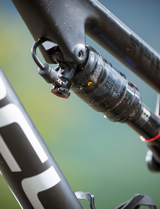 The Spine's single-pivot rear end serves up 120mm of travel