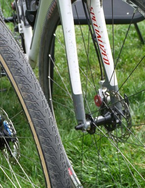 Fat rubber can be a definite advantage in many gravel races, being sure-footed and harder to flat
