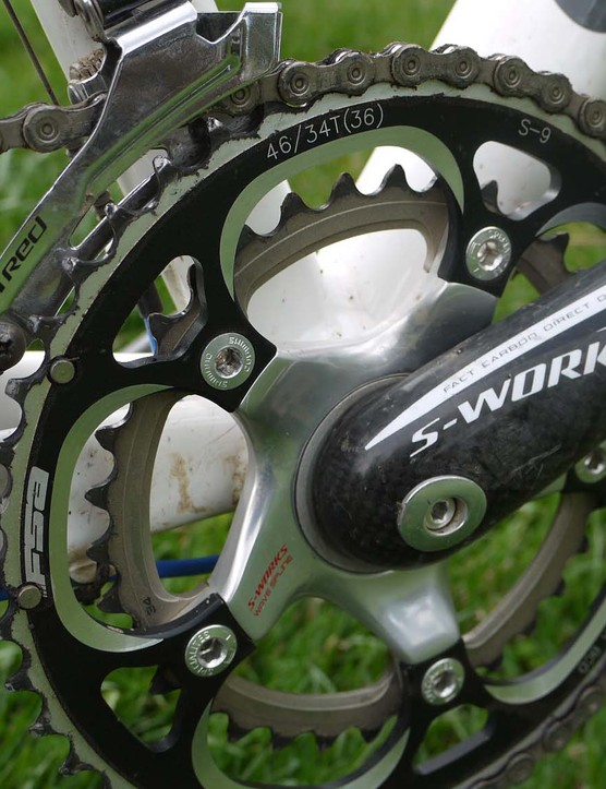 Smaller gears such as this 46/34t setup will ease the pain
