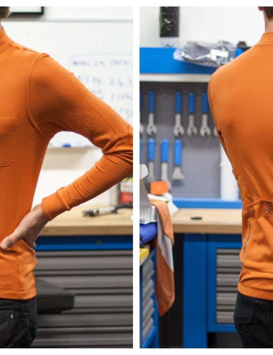 Isadore's long sleeved jersey in Burnt Orange
