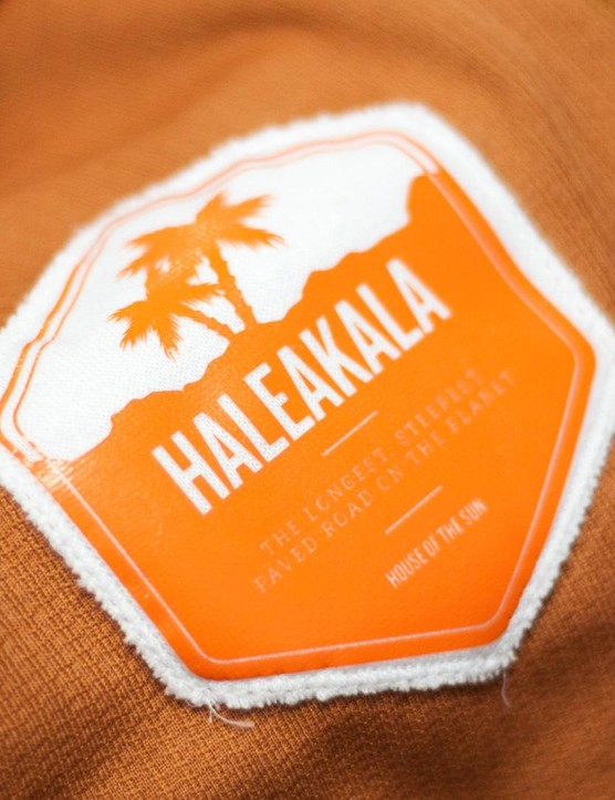 The inside of the Haleakala-inspired Climber's Jersey