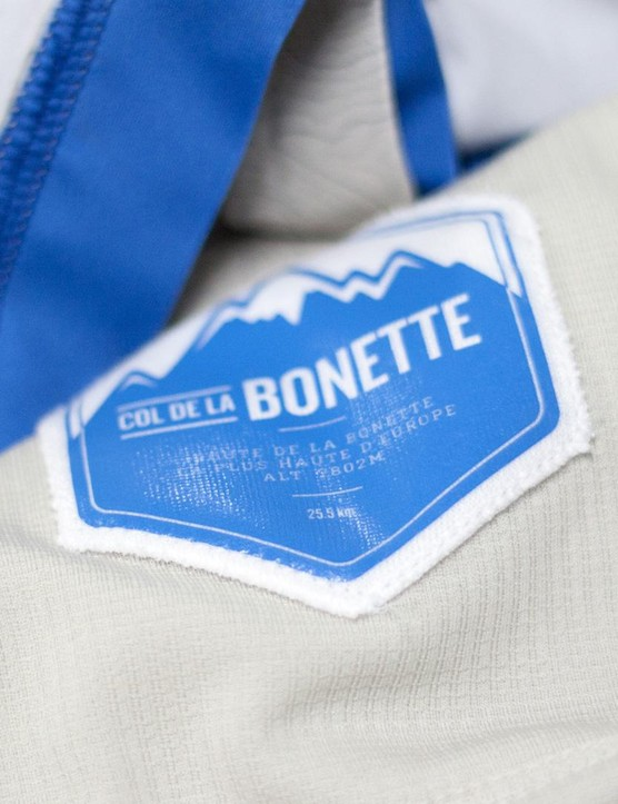The Col de la Bonette jersey has this nice detailing on the interior