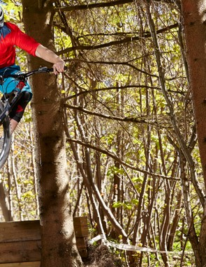 Jake hits the jumps at Tidworth Freeride in Wiltshire on his Merida One-Sixty