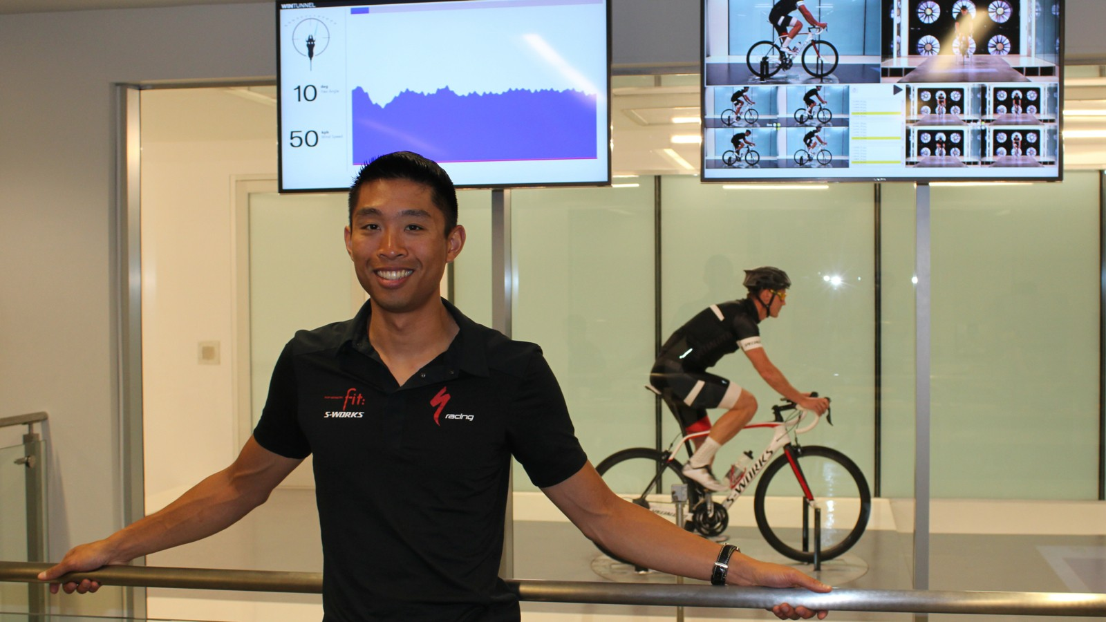 Specialized aero R&D engineer Chris Yu studies going fast for a living
