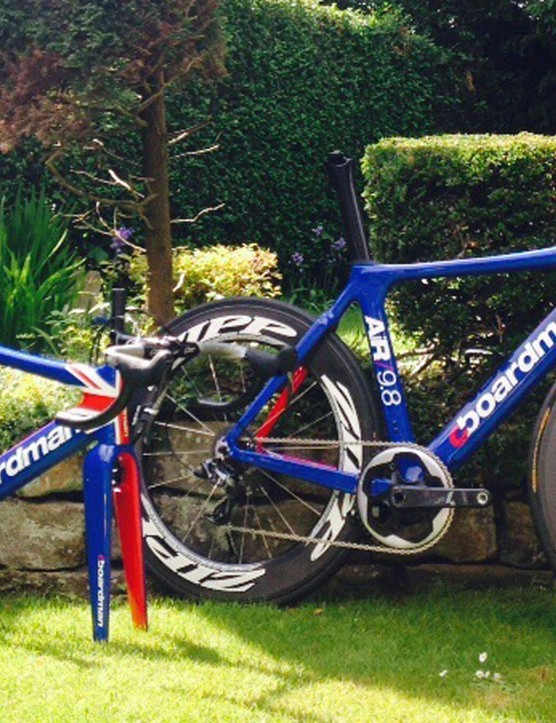 The finished bikes, built up with the Brownlees' usual SRAM and Zipp components