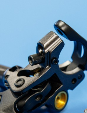 Pictured is an I-Spec B brake lever with the I-Spec B shifter hardware in place