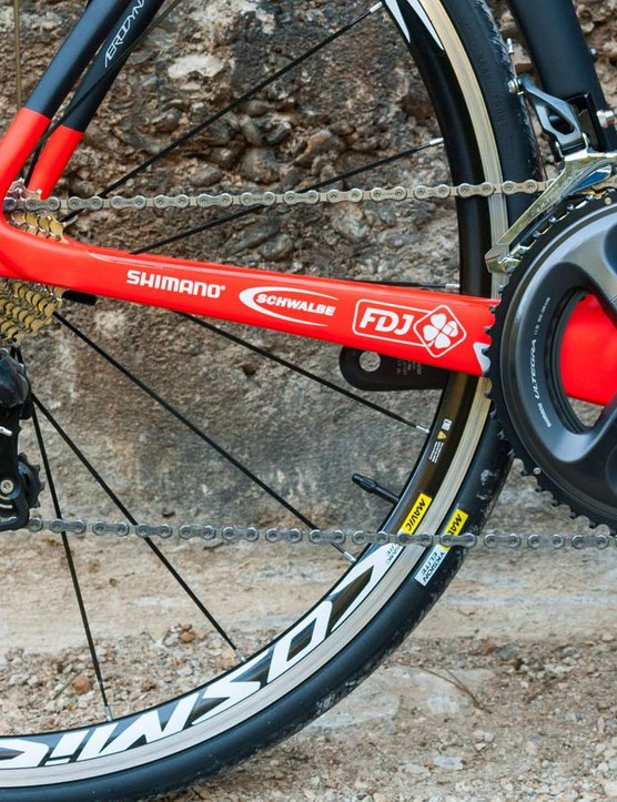 Mechanical Ultegra is a pleasure to use and we're glad to see that Lapierre have gone with an Ultegra chainset rather than a third party item