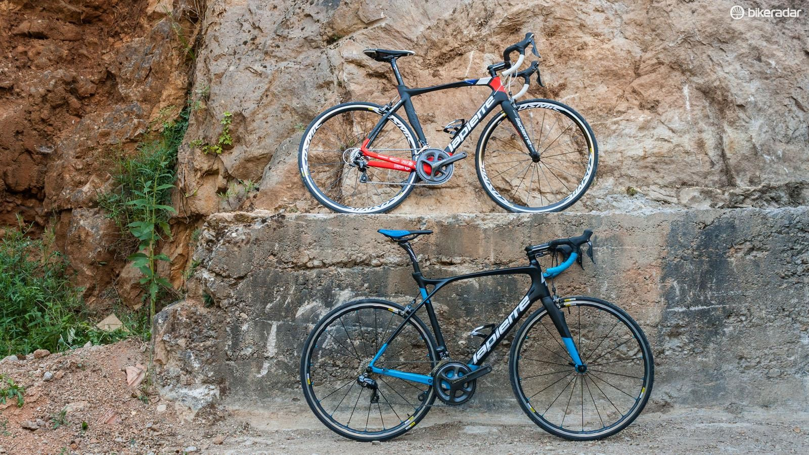 The Lapierre Aircode SL 600 (top) and Xelius SL700 (bottom)