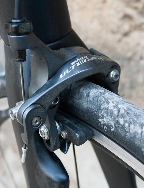 Ultegra brakes – always useful on a fast descent