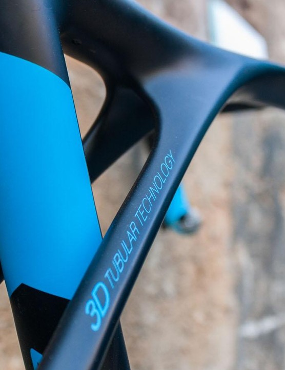 The seatstays flare out where they join the top tube…
