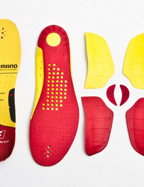 In addition to being heat malleable, the inner soles include interchangeable arch inserts