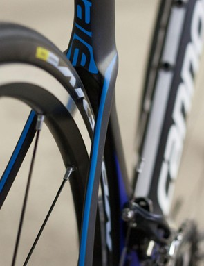 The reverse of the seat tube is designed to reduce pressure drag