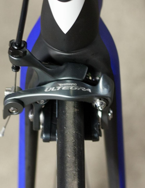 The direct-mount brake is designed to actually slow the bike when used