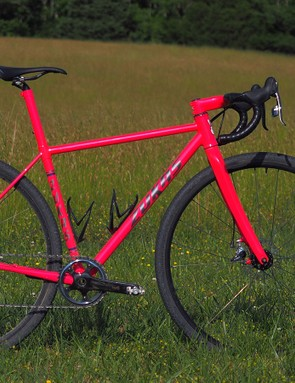 Nate Zukas not only builds his own frames but he paints them, too. This one was specifically built to tackle the Baller's Ride - a challenging mix of fast paved road, rooty dirt, and loose gravel with lots of climbing tossed in for good measure