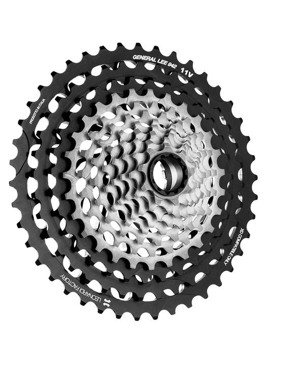 Leonardi Factory has developed a 9-42t 11-speed cassette, beating e*thirteen to market in offering a 9t option