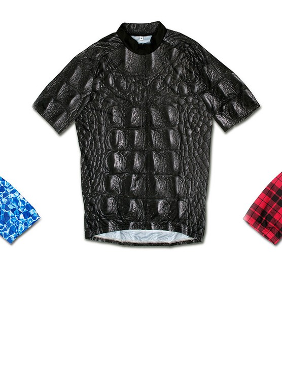 Would you ride in a croc skin cycling jersey? South Apparel thinks you should
