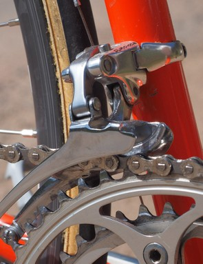 Back in the day, all high-quality front derailleurs were made using forged aluminum links and chromed steel cages